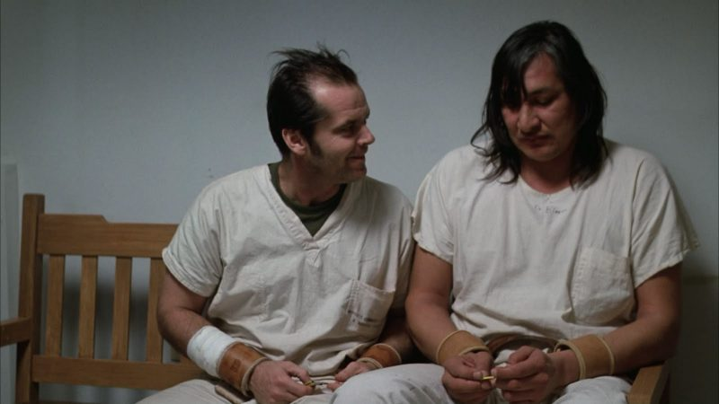 Jack Nicholson e Will Sampson são McMurphy e Bromden