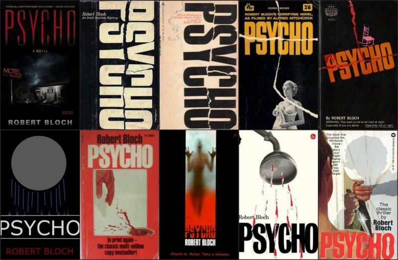 Algumas capas de Psicose ao longo dos anos