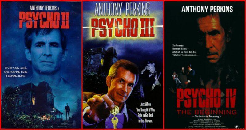 As sequências do clássico Psicose, que são filmes bem trash