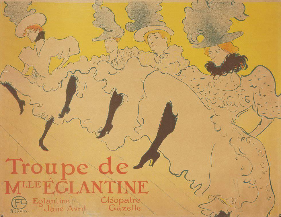 Uma das pinturas de Toulouse-Latrec