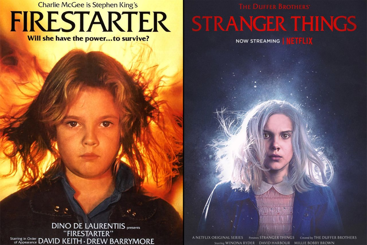 Cartaz do filme e da segunda temporada de Stranger Things