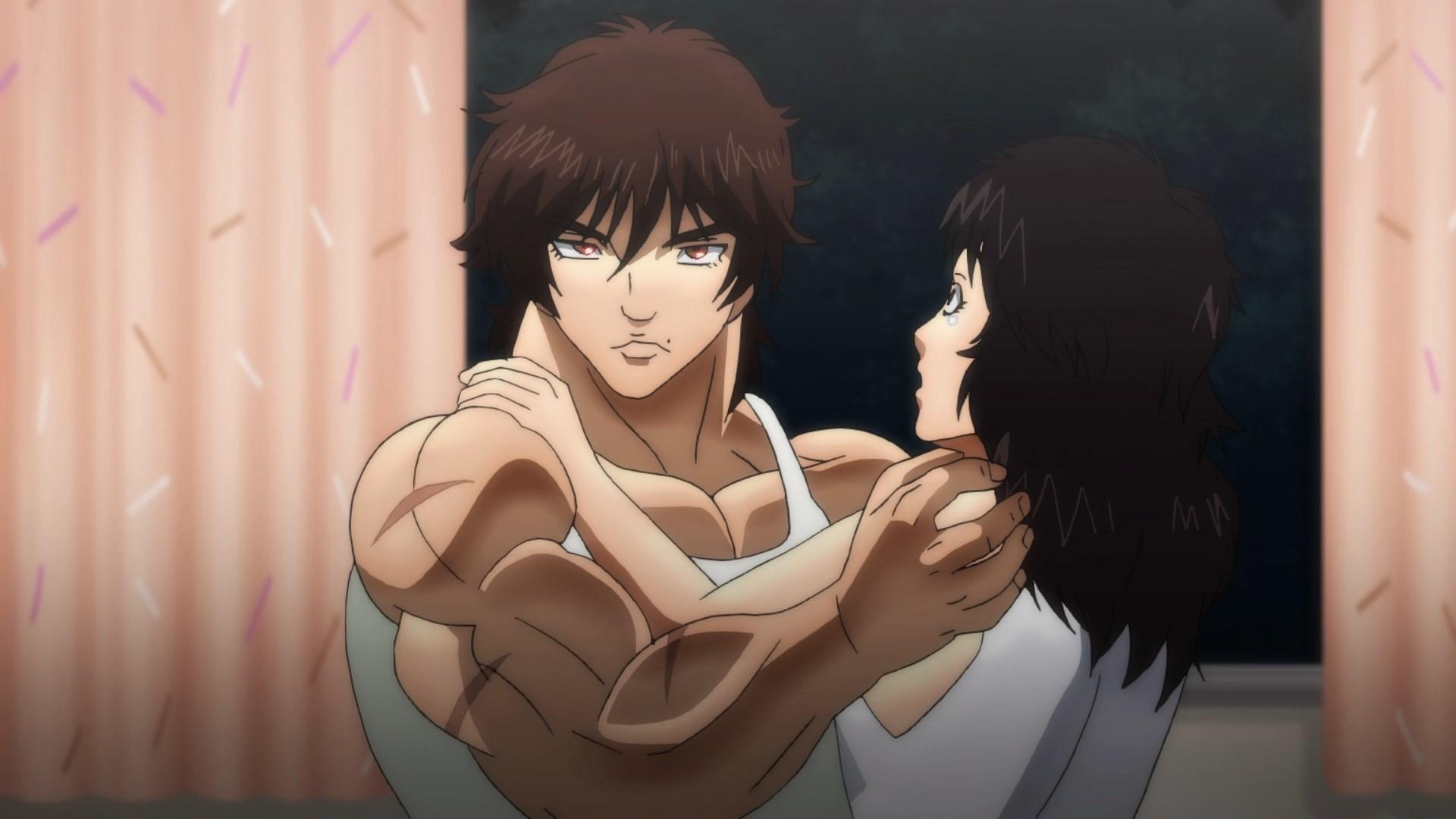 Baki protegendo Kozue Matsumoto