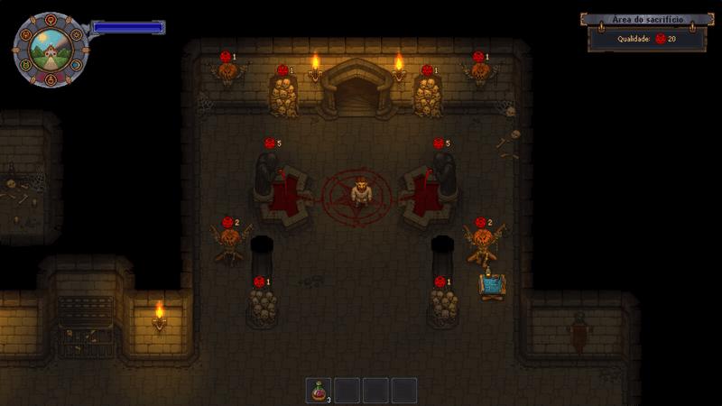 Área pré-dungeon, local do Rato em Graveyard Keeper