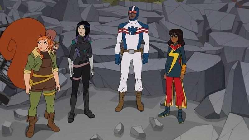 Heróis e S.H.I.E.L.D em Marvel Rising: Secret Warriors