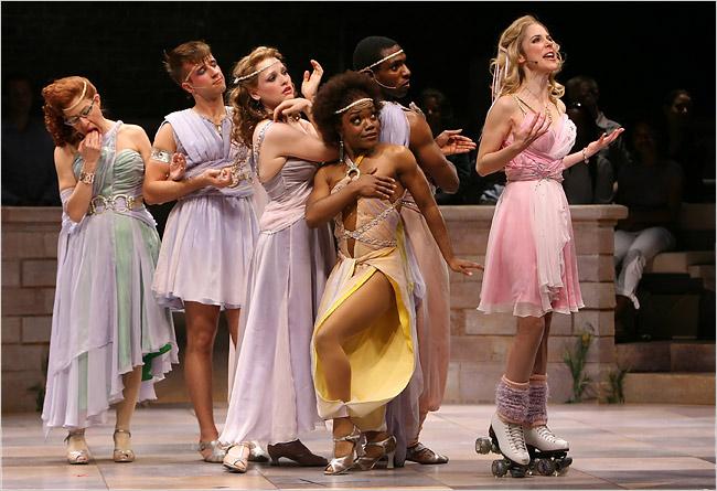 Cena da montagem da Broadway