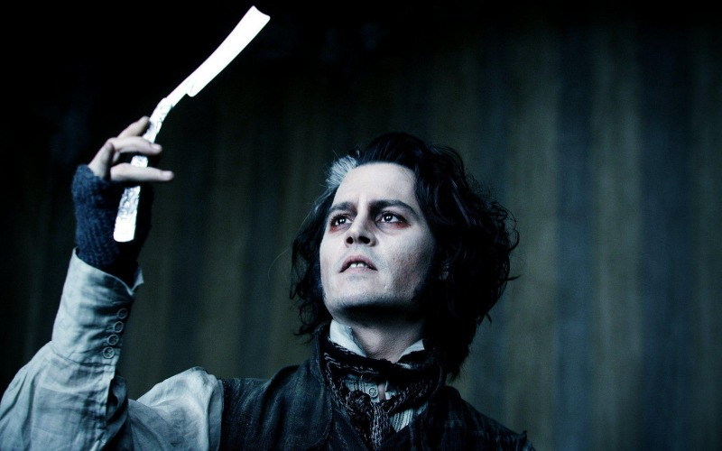 Johnny Depp como Sweeney Todd