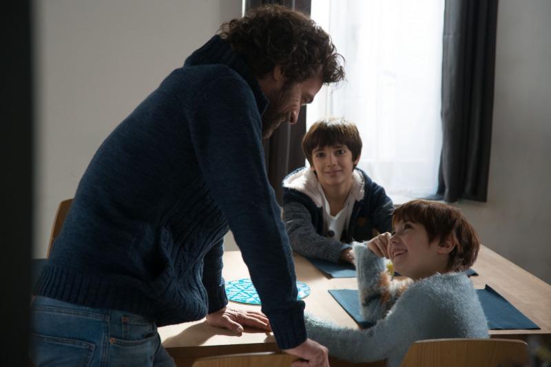 Olivier e os filhos Elliot e Rose