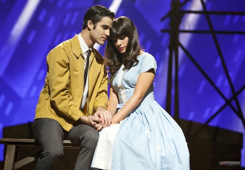 Cena do episódio de Glee que fez referência a Amor, Sublime Amor