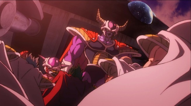 Rei Freeza e seu filho humilhando a raça sayajin