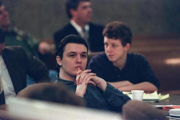 Echols durante o julgamento