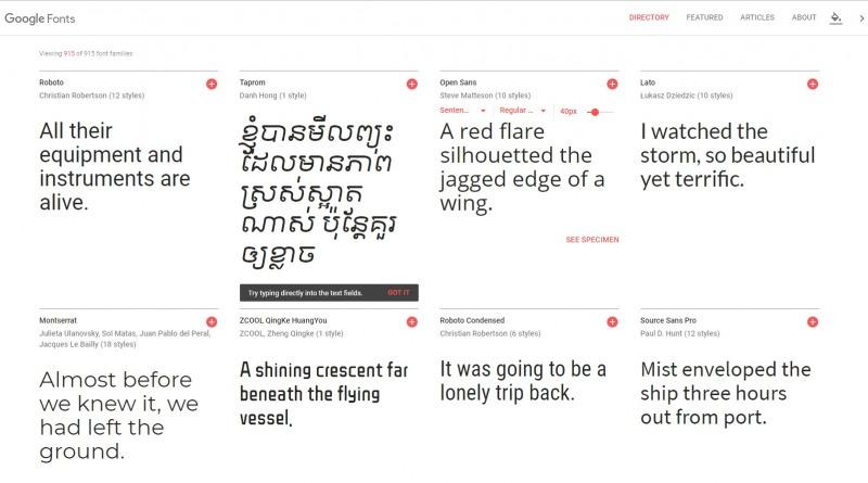 Exemplos de fontes no Google Fonts para alterar a fonte