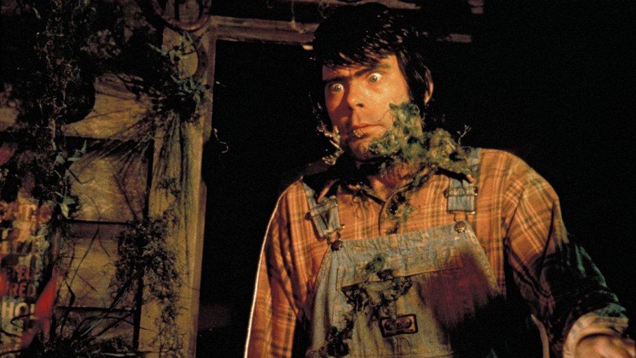Stephen King aos 35 anos fazendo papel de um caipira