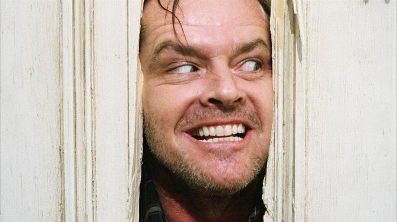 Jack Nicholson em cena de O Iluminado