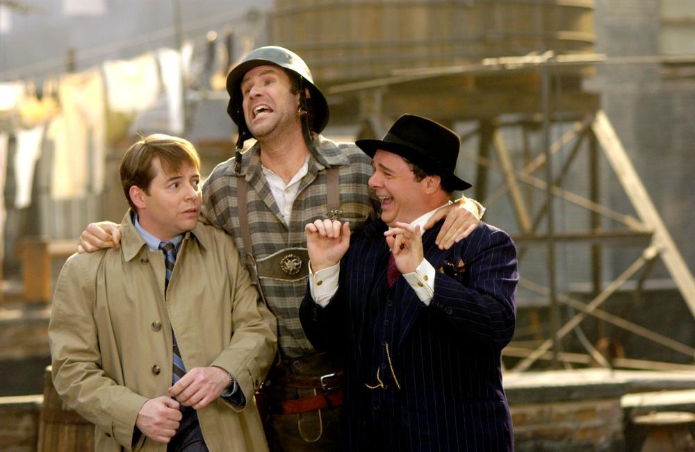 Matthew Broderick, Will Ferrell e Nathan Lane em cena do filme Os Produtores