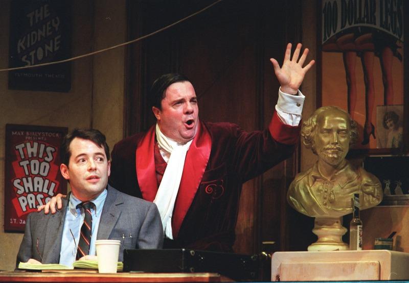 Broderick e Lane na montagem original da Broadway