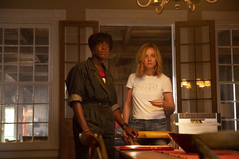 Lashana Lynch e Brie Larson em Capitã Marvel