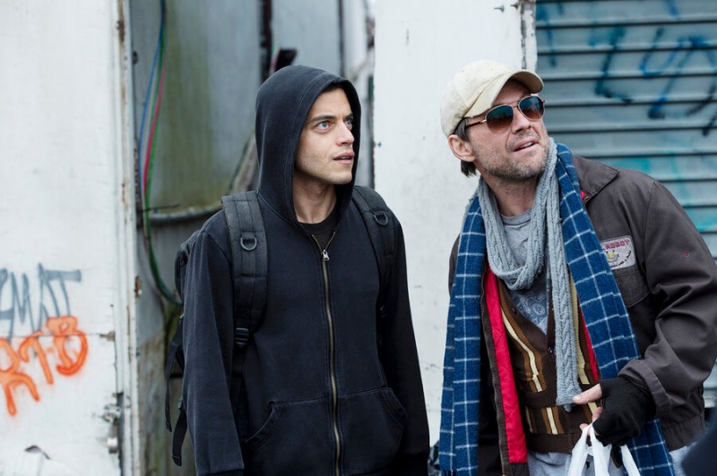 Rami Malek contracena com Christian Slater