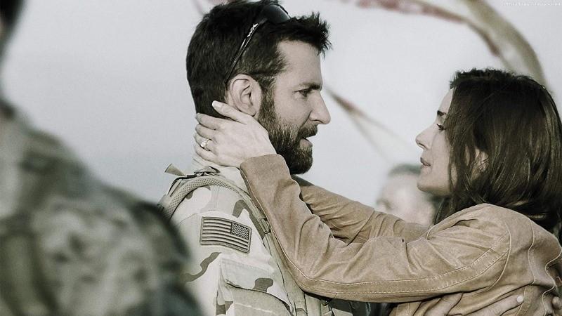 Kyle e a esposa