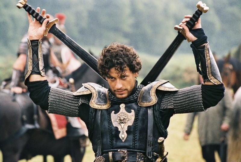 Ioan Gruffudd como Lancelot, no filme Rei Arthur