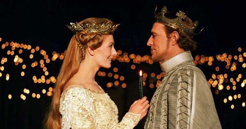 Vanessa Redgrave e Richard Harris em Camelot