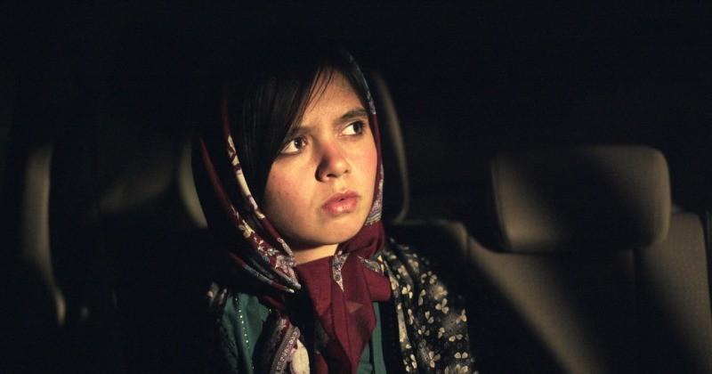 Marziyeh Rezaei em cena do filme Três Faces