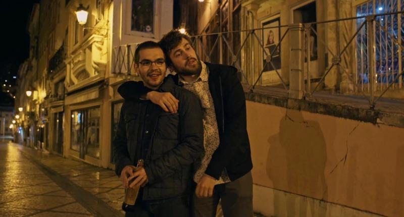 Rafael com o amigo em Portugal