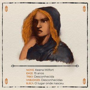 Keana, protagonista de Espírito Perdido