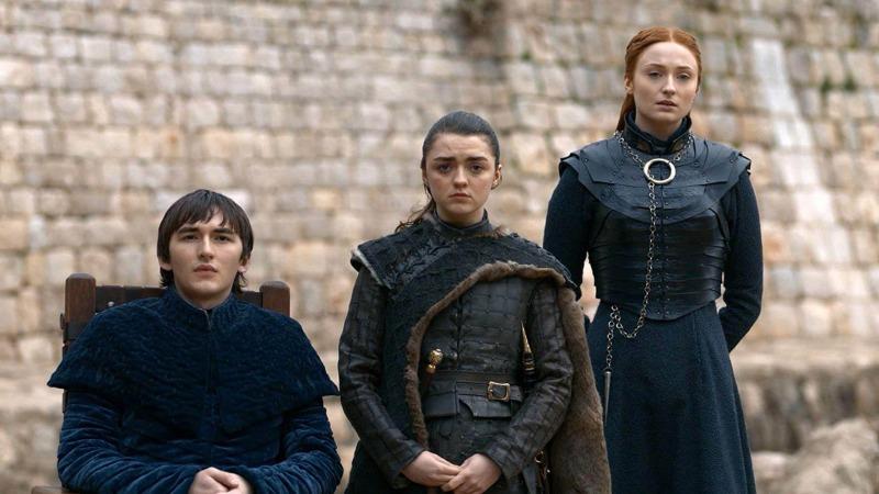 Bran, Arya e Sansa em Game of Thrones