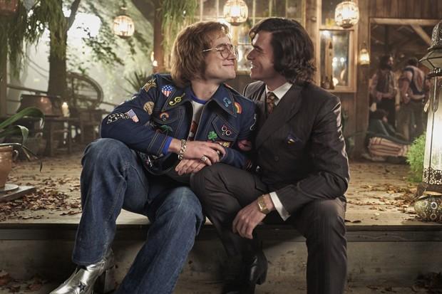 Elton John com o empresario e namorado, John Reid