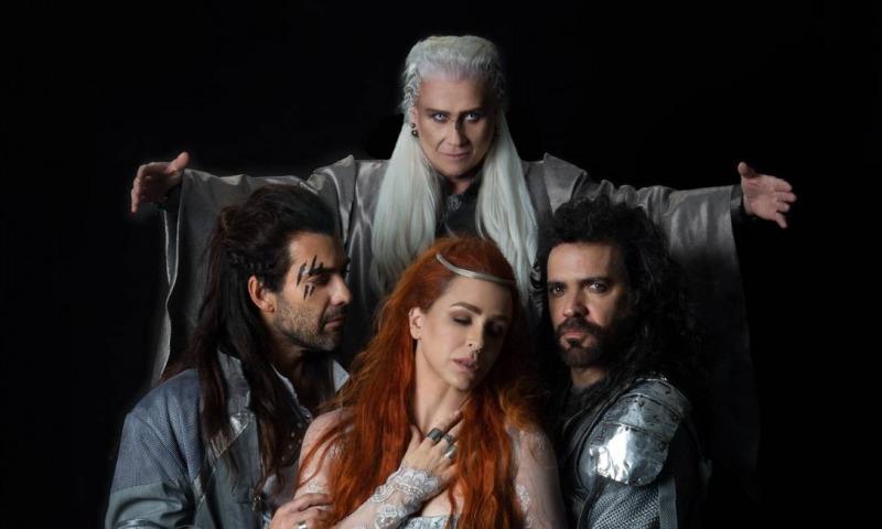 Merlin, Lancelot, Guinevere e Arthur