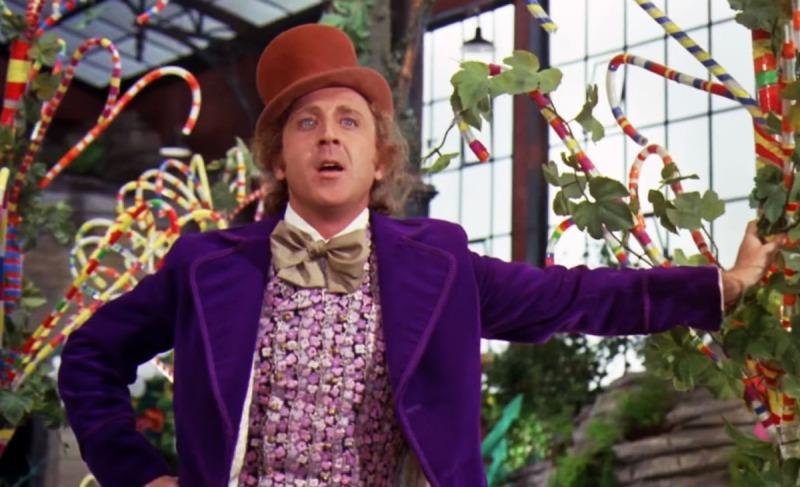 Gene Wilder como Willy Wonka em A Fantástica Fabrica de Chocolate