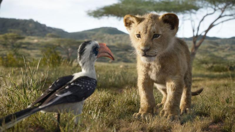 Zazu e Simba em O Rei Leão