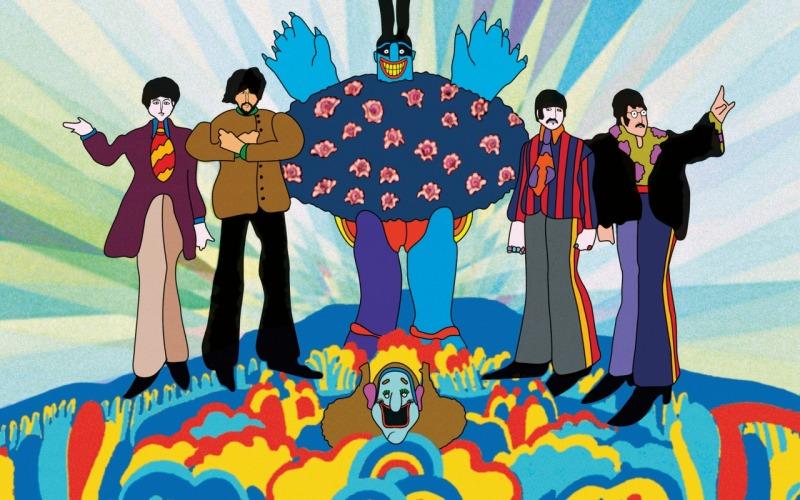 Os Beatles e um malvado azul