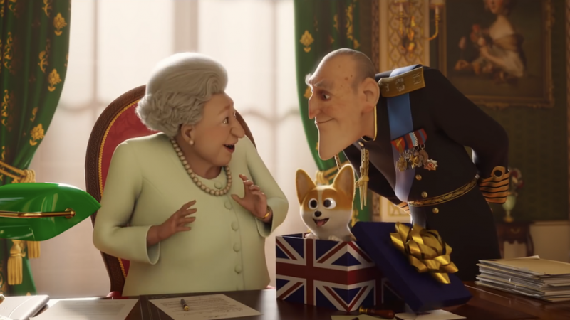 Elizabeth, Rex e Philip em Corgi: Top Dog