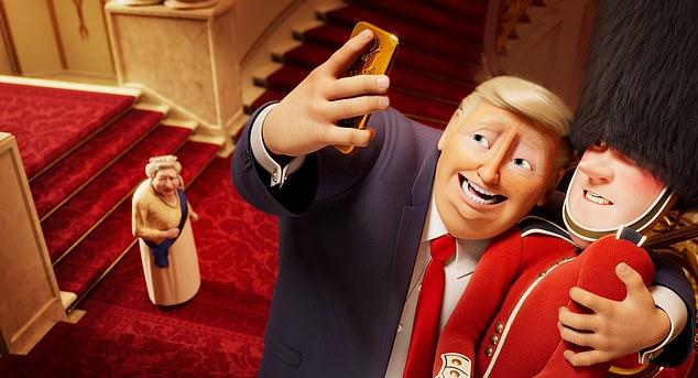 Donald Trump é um dos personagens de Corgi: Top Dog