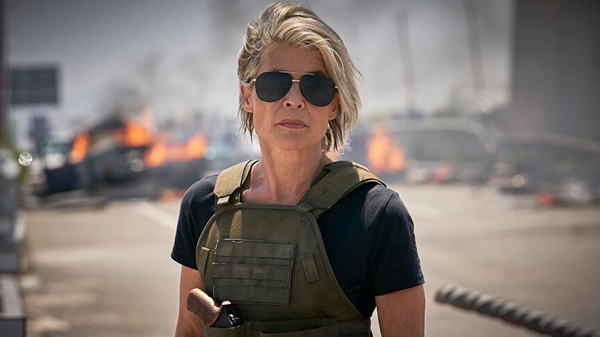 Linda Hamilton é Sarah Connor em O Exterminador do Futuro: Destino Sombrio