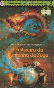 Capa do Livro-jogo O feiticeiro da Montanha de fogo