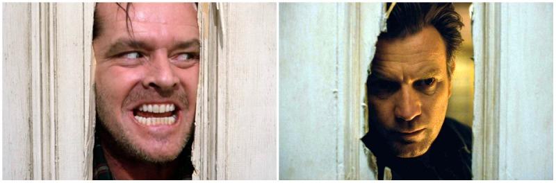 Jack Nicholson em O Iluminado e Ewan McGregor em Doutor Sono