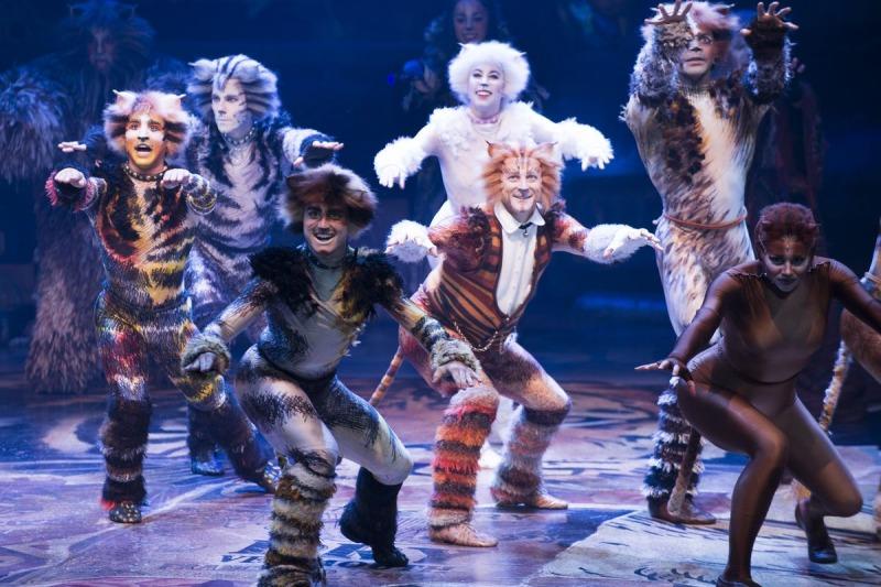 Uma montagem de Cats no teatro