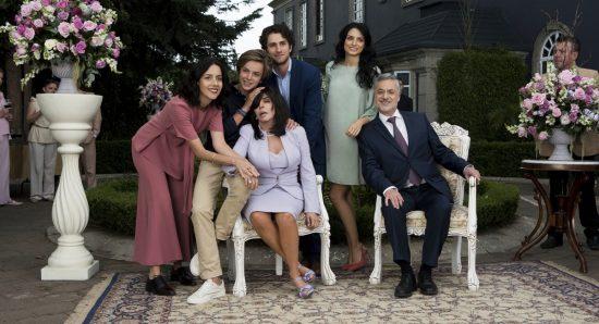 A família de La Mora de A Casa das Flores