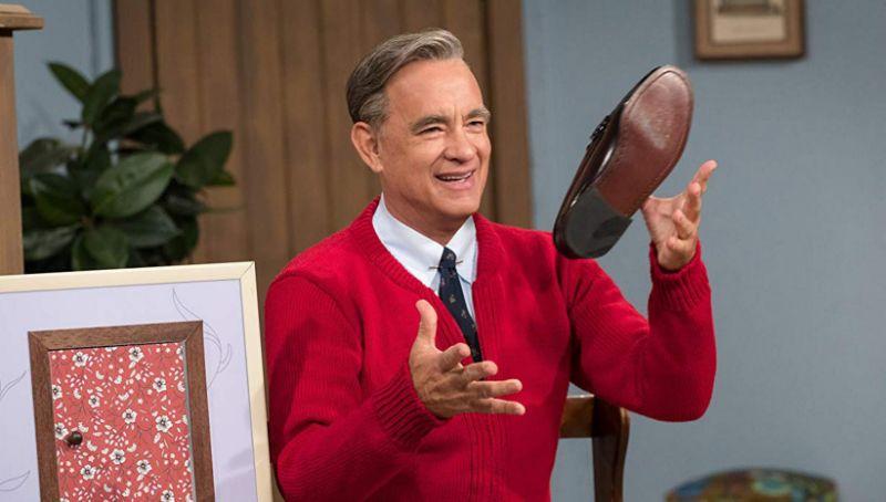 Tom Hanks como Fred Rogers em Um Lindo Dia na Vizinhança
