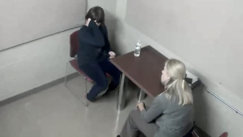 Weier durante o seu depoimento em Cuidado com o Slenderman