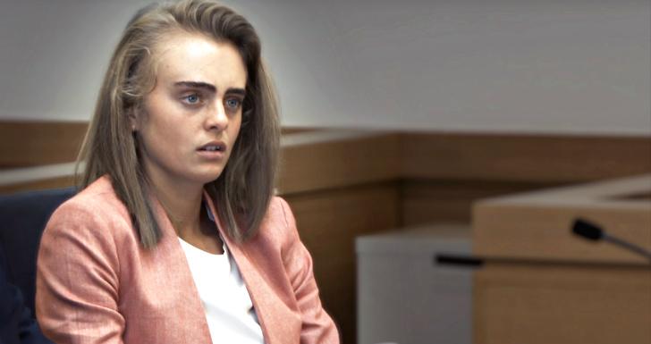 Michelle durante o julgamento