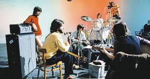 Os Beatles durante as gravações do disco Let It Be