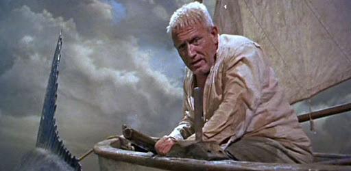 Cena do filme de 1958 - O Velho e o Mar