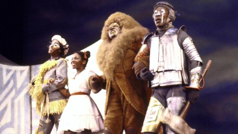 Cena da montagem da Broadway de The Wiz