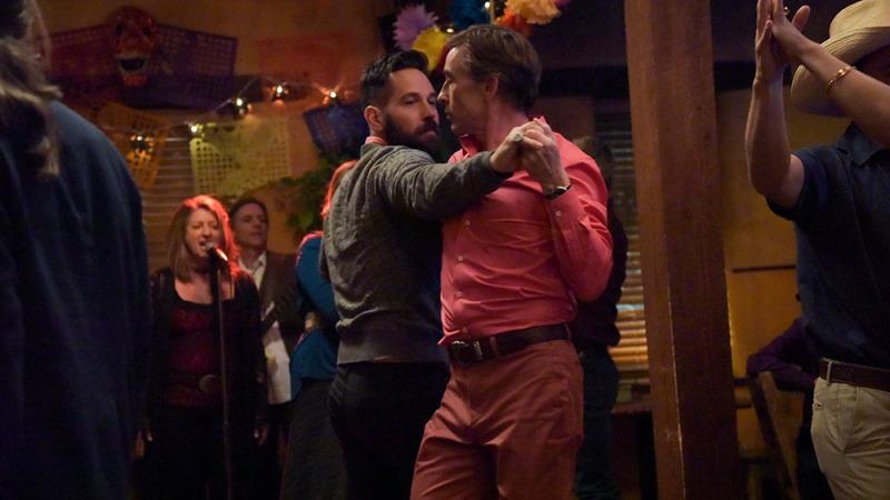 Rudd e Coogan em cena do filme Lar Ideal