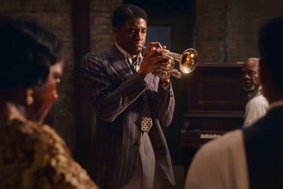 Chadwick Boseman em cena do filme A Voz Suprema do Blues