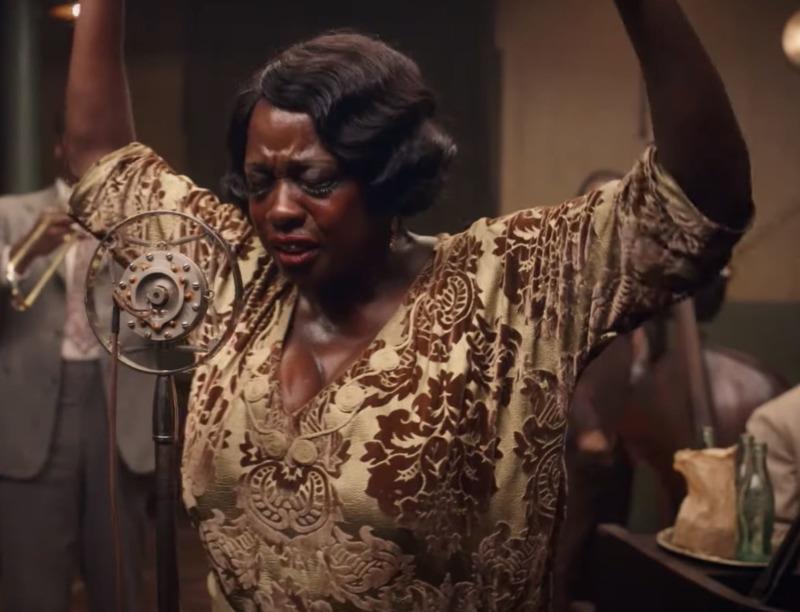 Viola Davis como Ma Rainey em A Voz Suprema do Blues