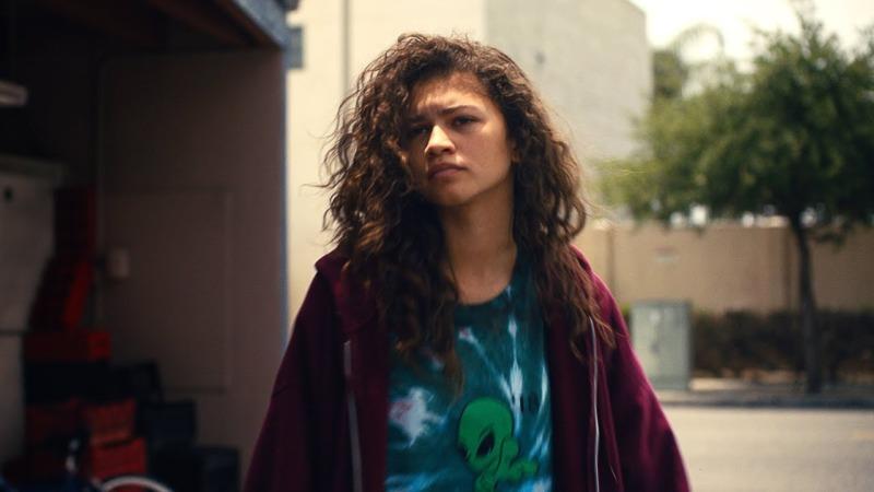 Zendaya como Rue Bennett em Euphoria